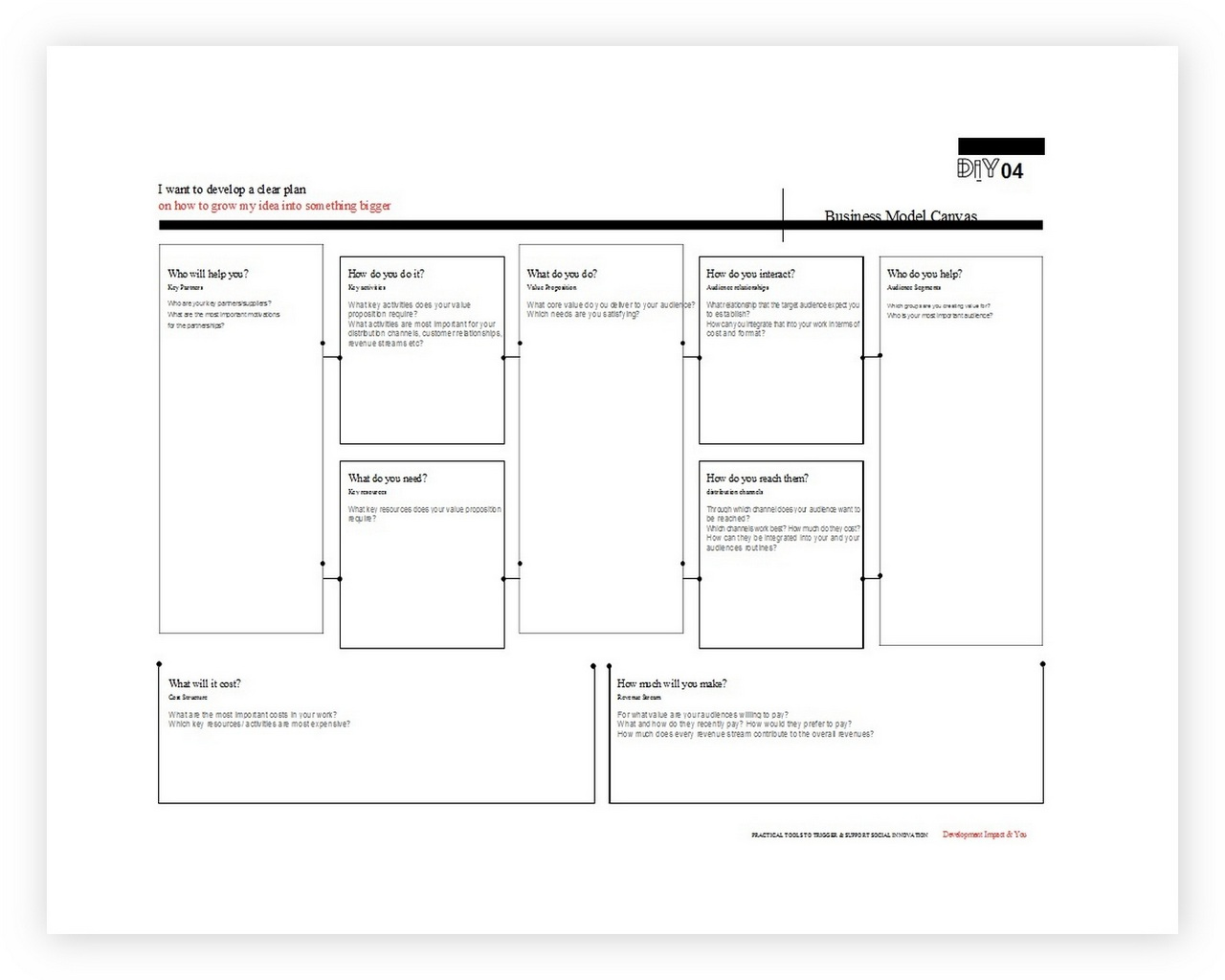Business Model Canvas Template Word 11