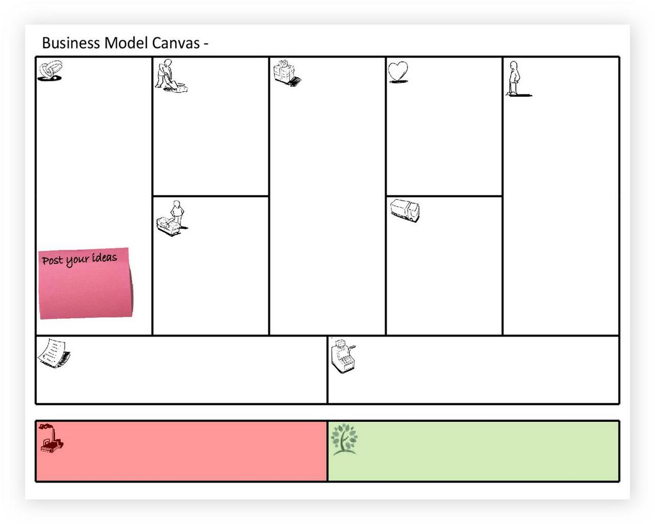 Business Model Canvas Template ppt 04