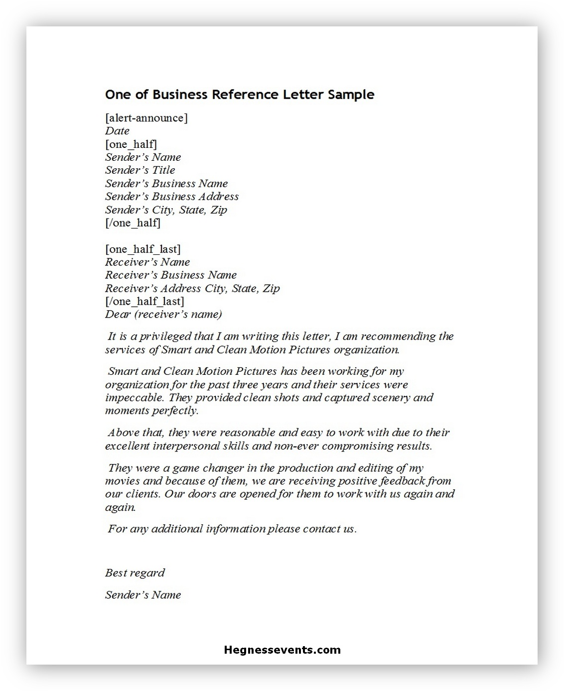Business reference letter 03