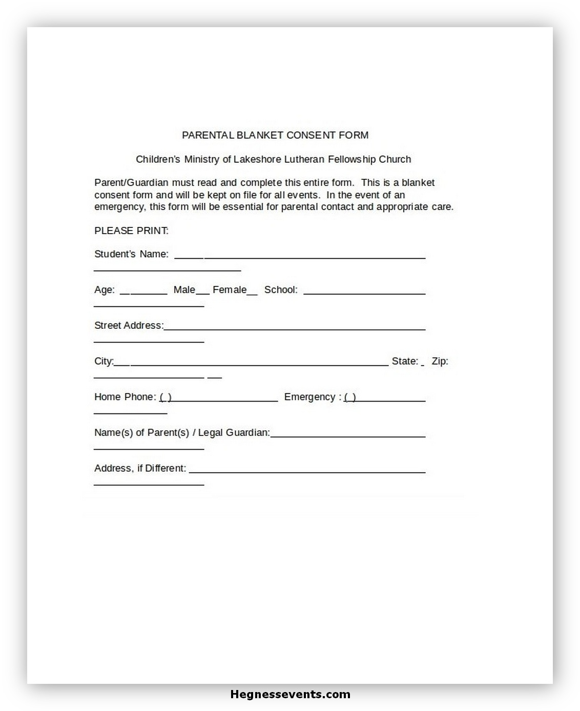 Child Medical Consent Form Notarized 1