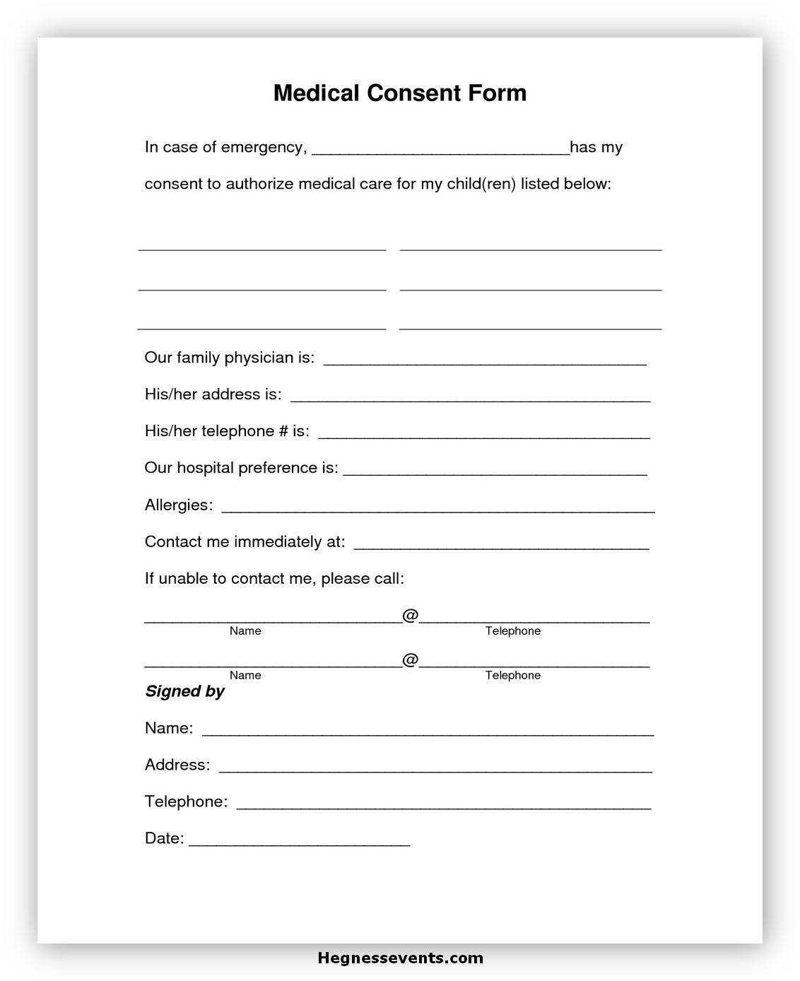 Child Medical Consent Form Notarized 2