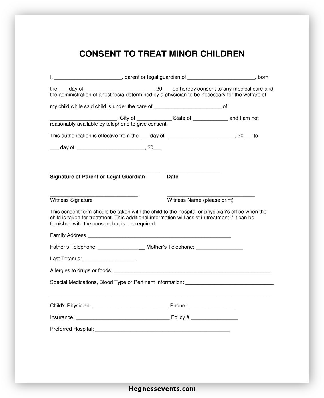 Child Medical Consent Form Notarized 4
