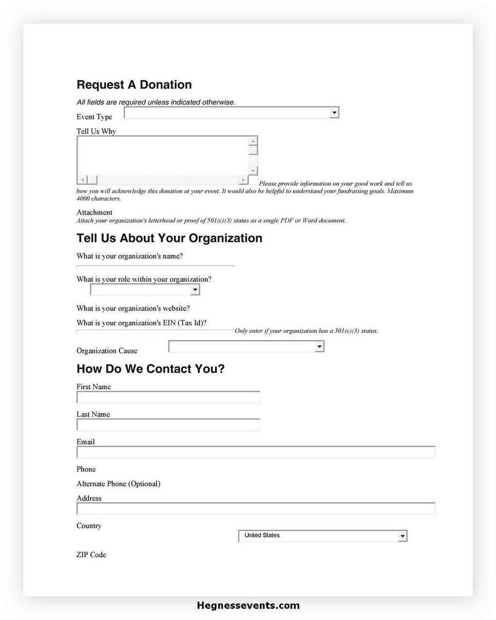 Donation Letter Request 07