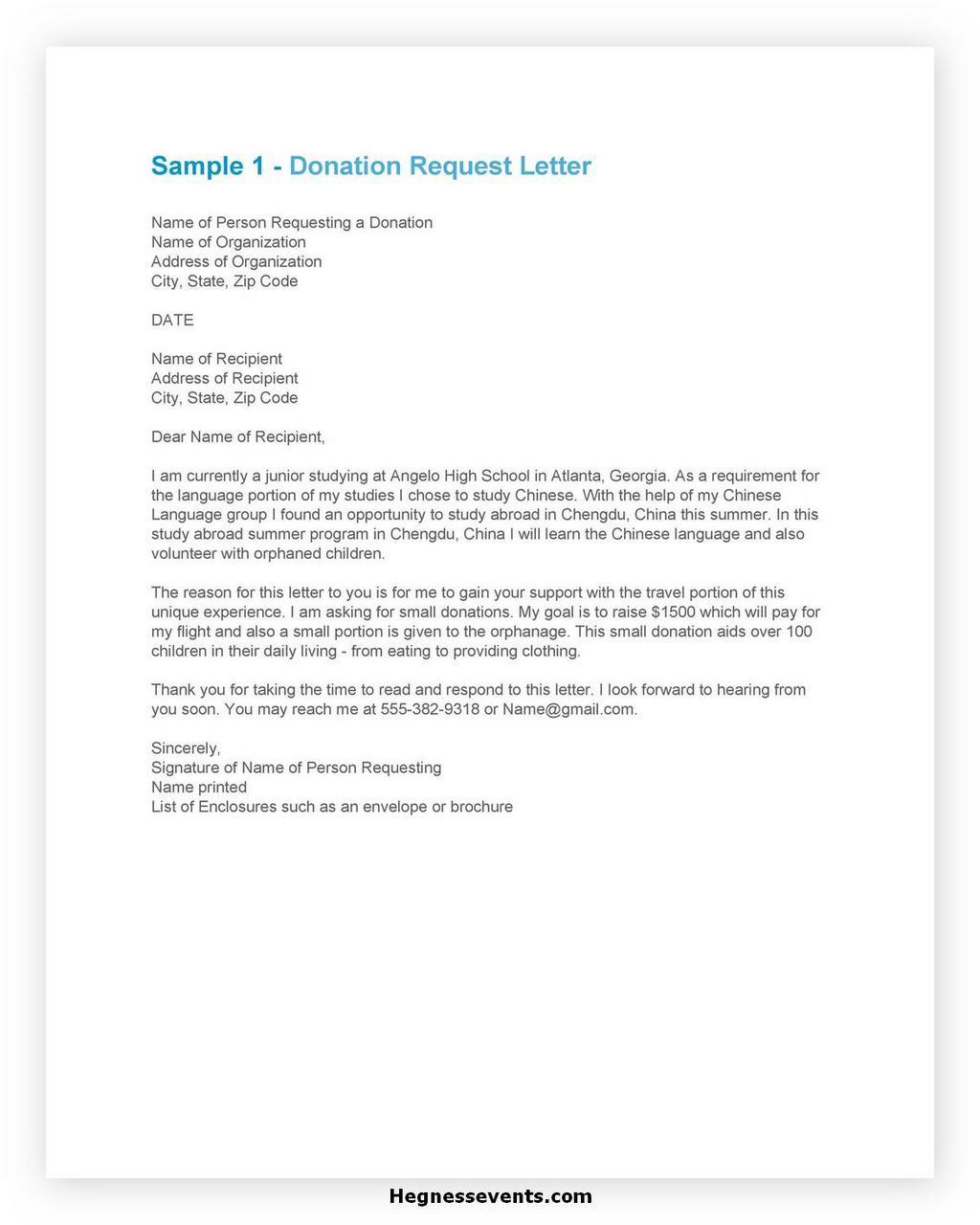 Donation Letter Request 09