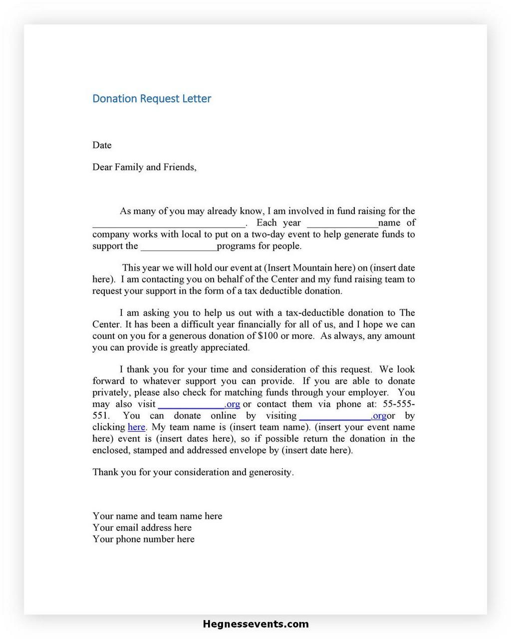Donation Letter Request Sample 20