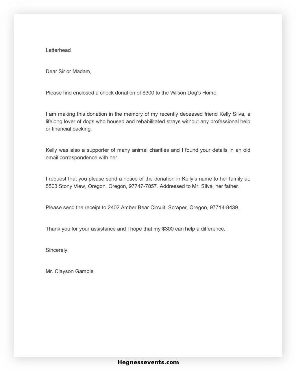 Donation Letter Request Template 22