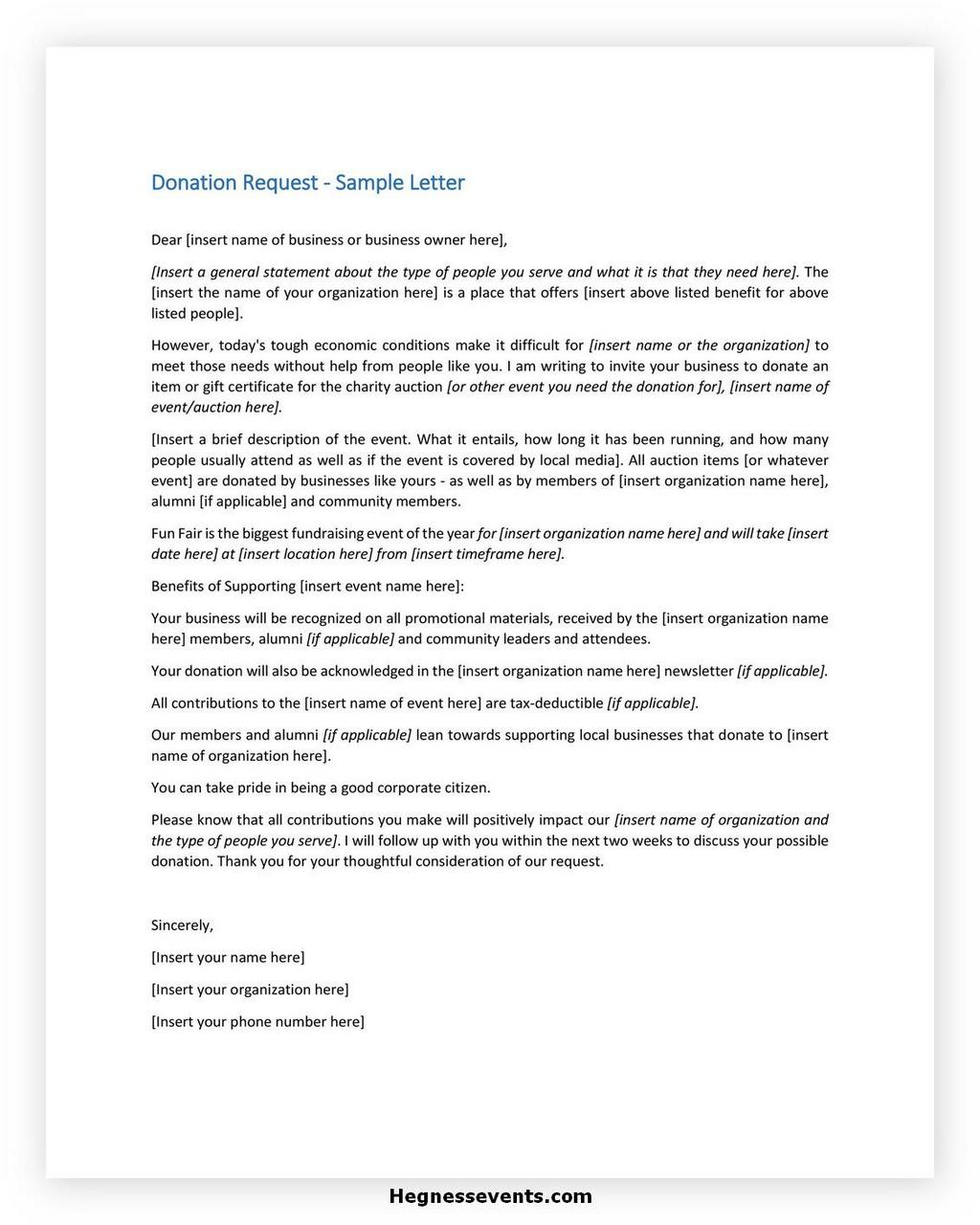 Donation Letter Request Template 24