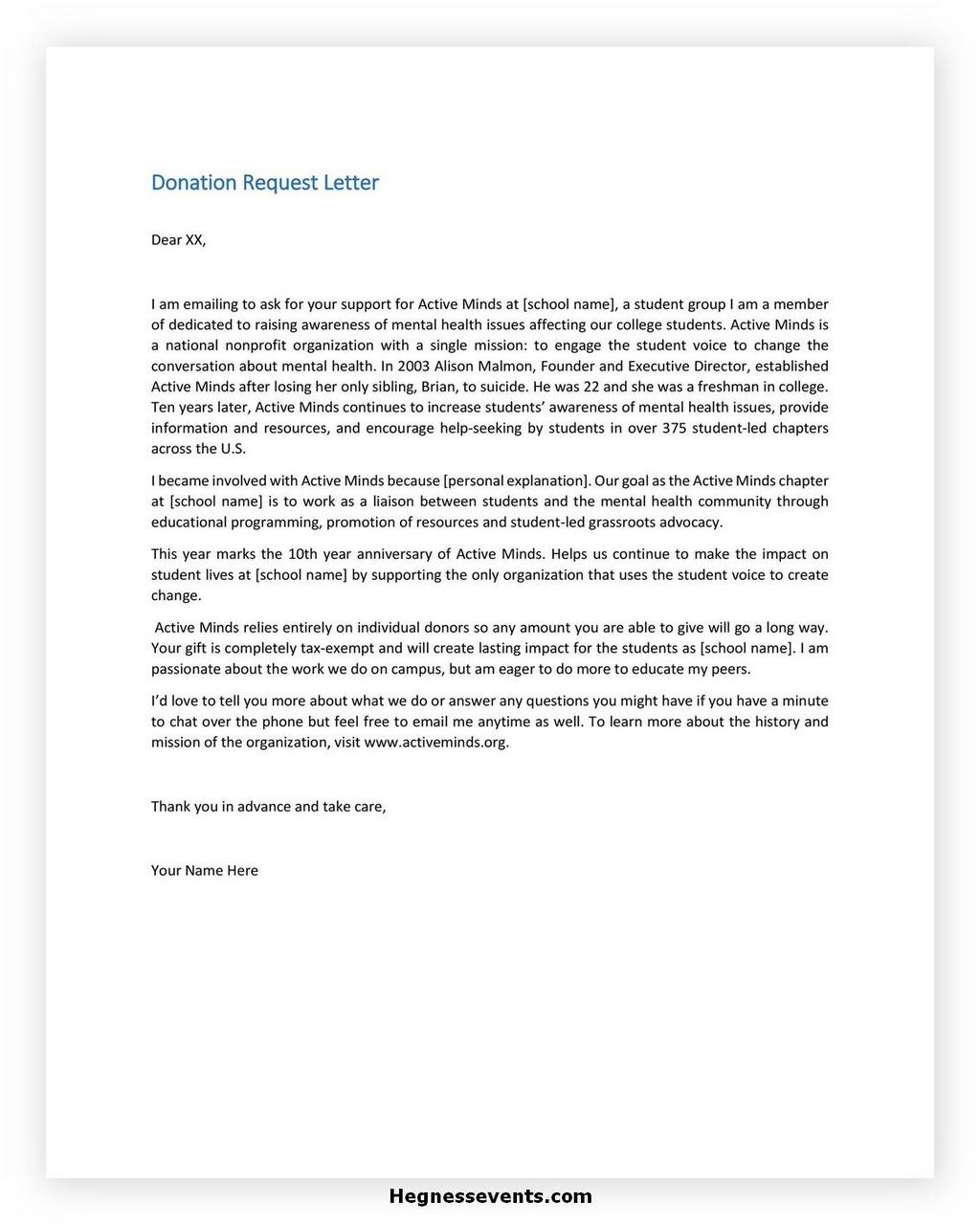 Donation Letter Request Template 25