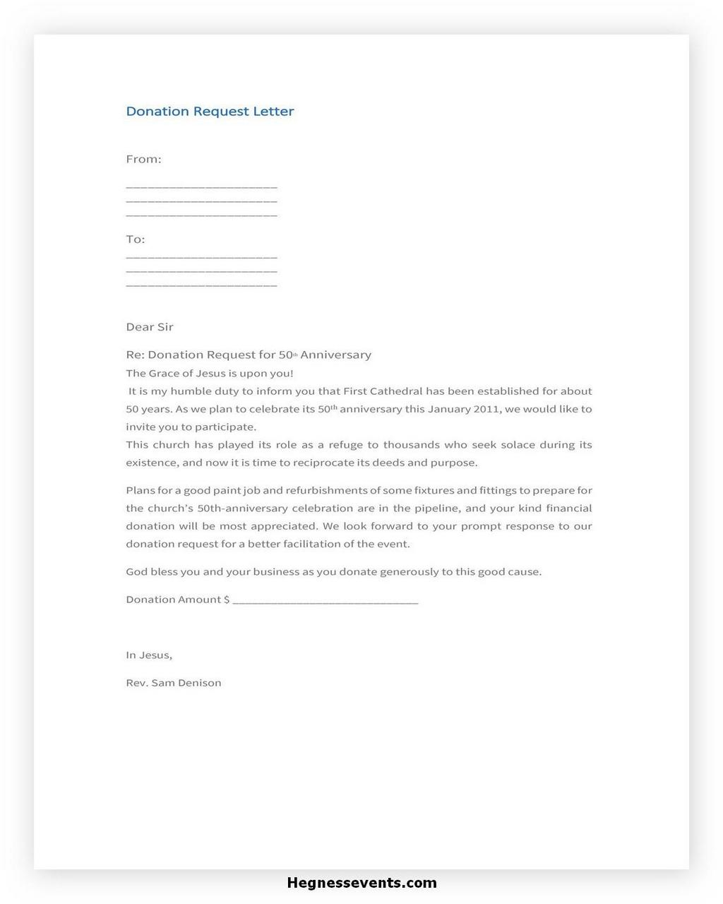 Donation Letter Request Template 26