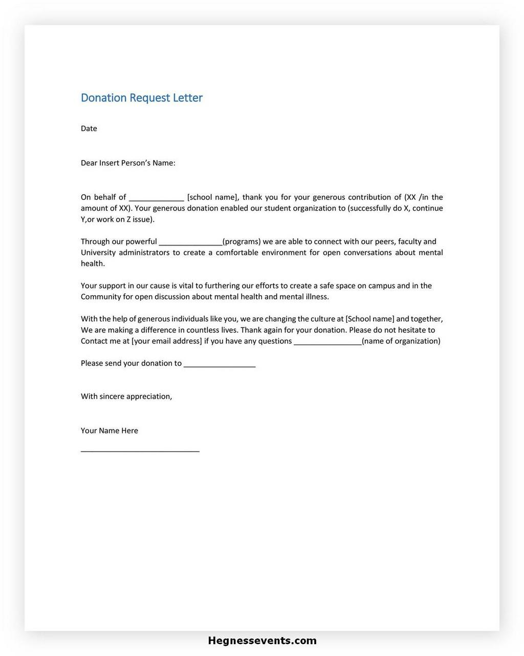 Donation Letter Request Template 27