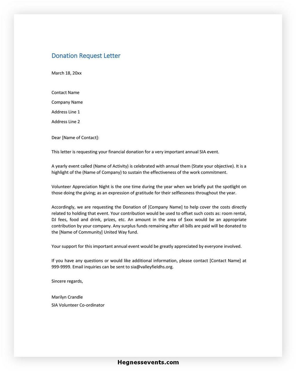 Donation Letter Request Template 28
