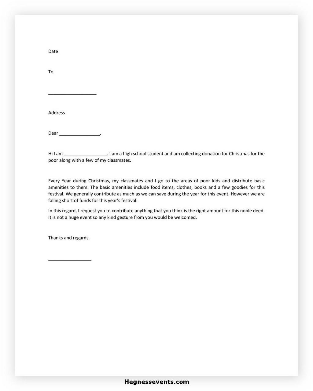 Donation Letter Request Template 29