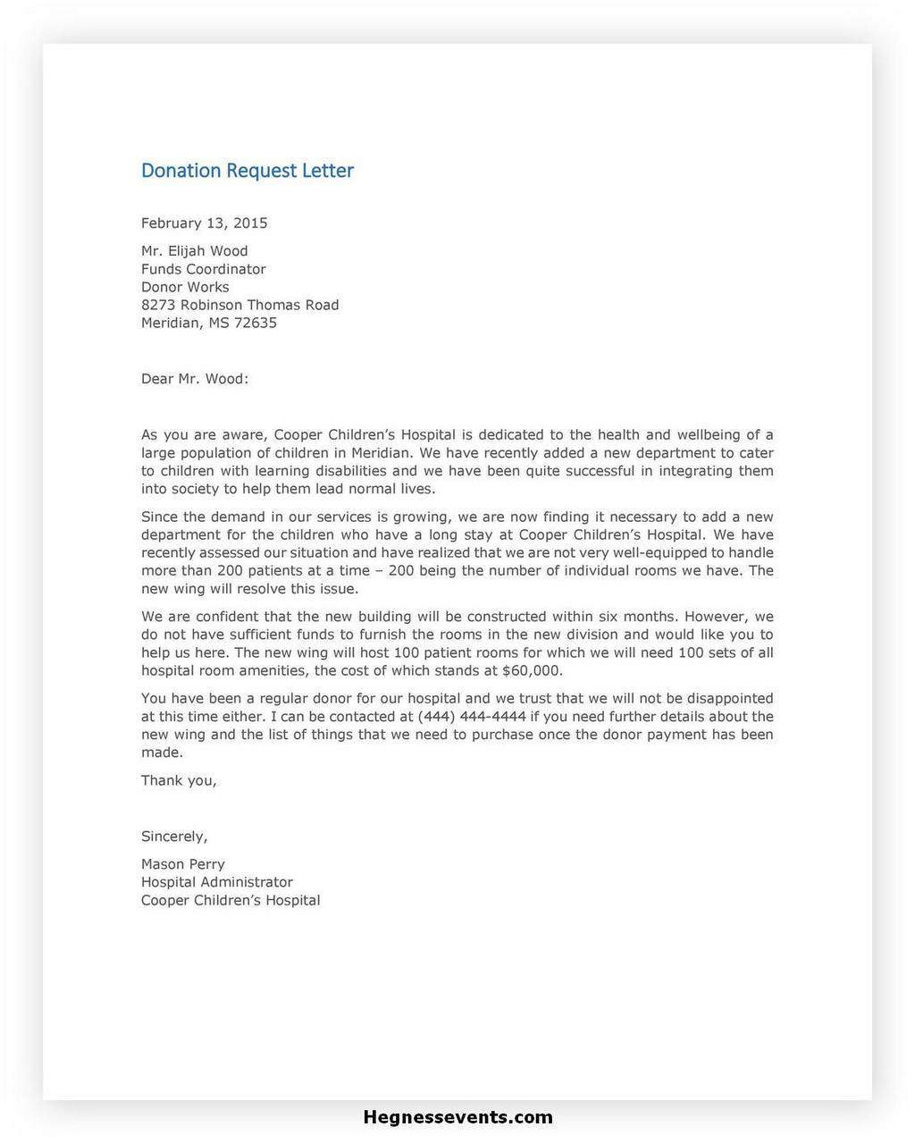 Donation Letter Request Template 30