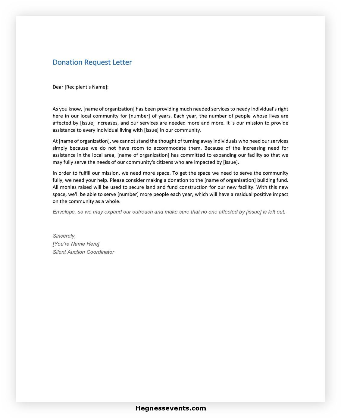 Donation Letter Template 32