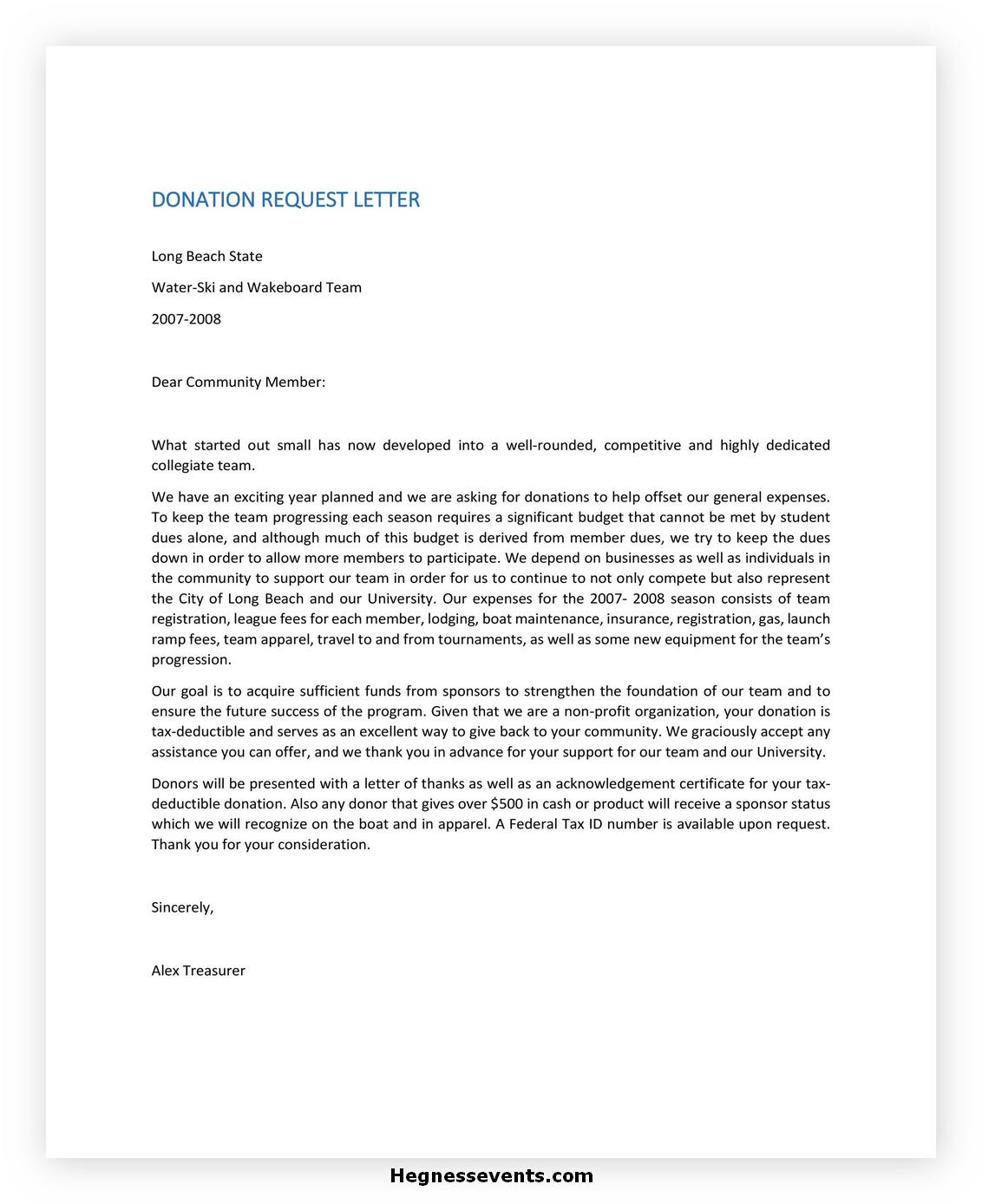 Donation Letter Template 33