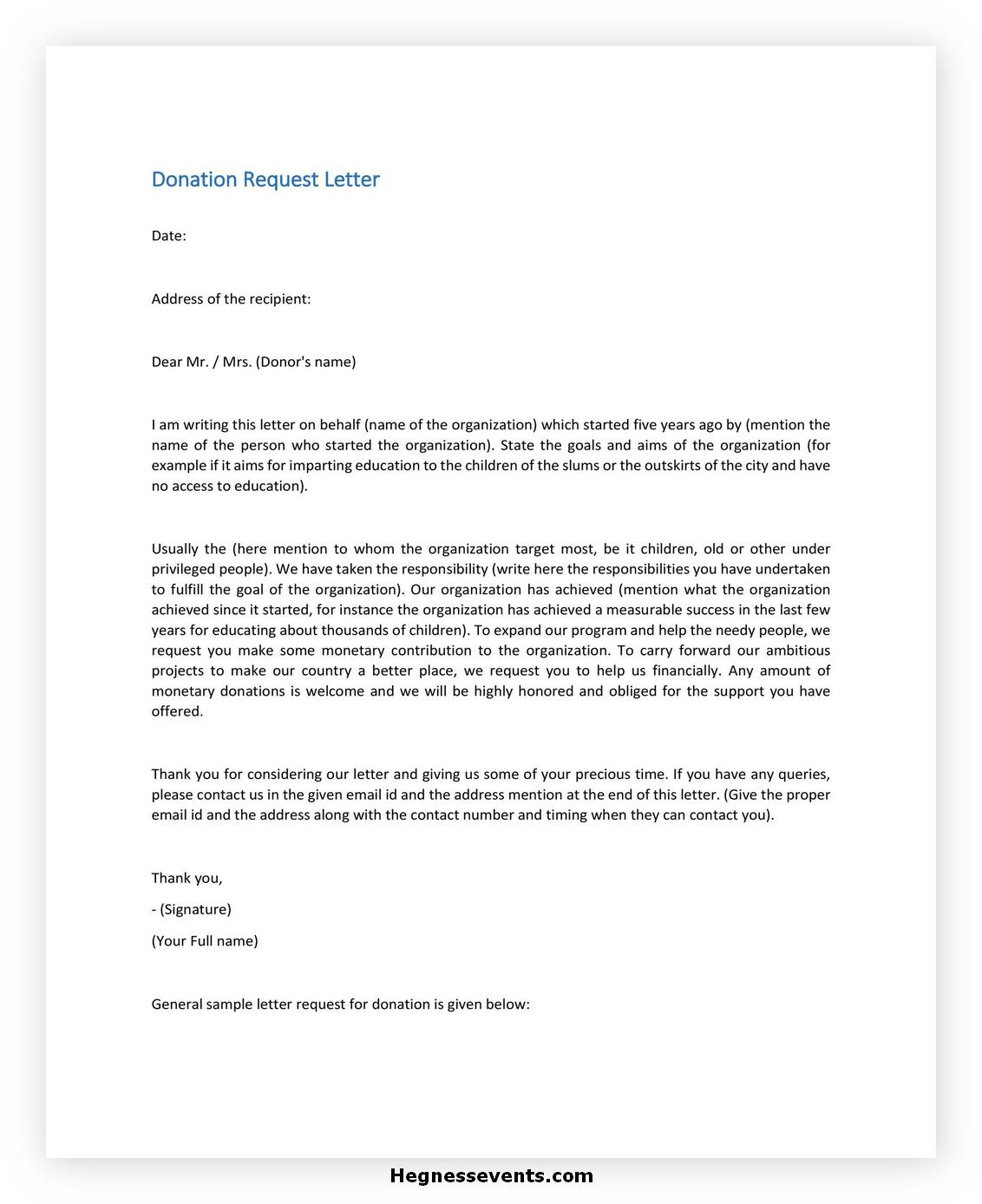 Donation Letter Template 35