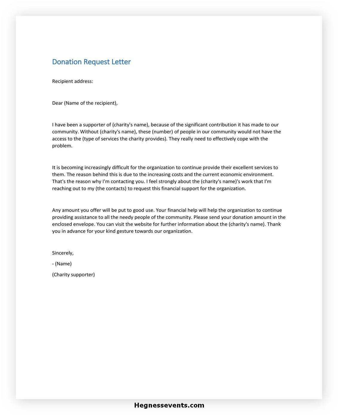 Donation Letter Template 36