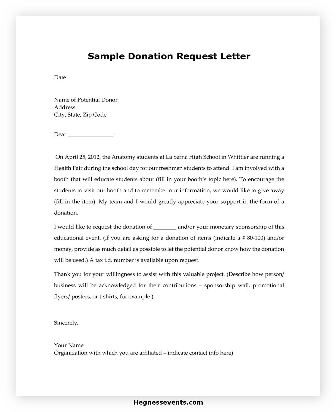 Donation Letter Template 37