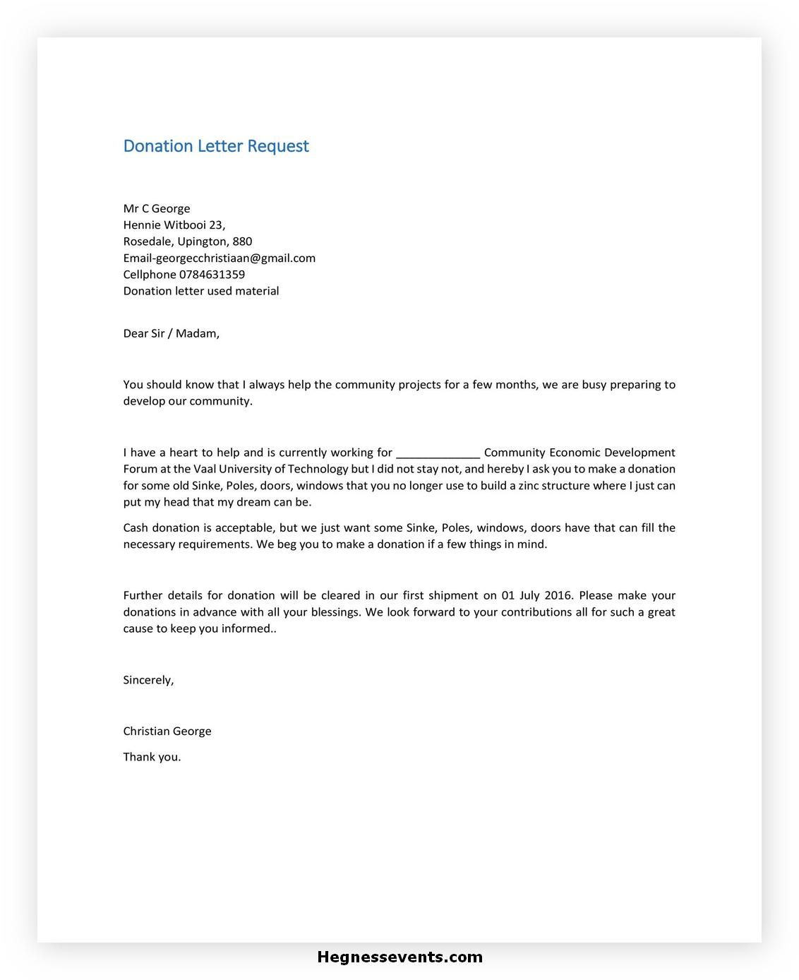 Donation Letter Template 39