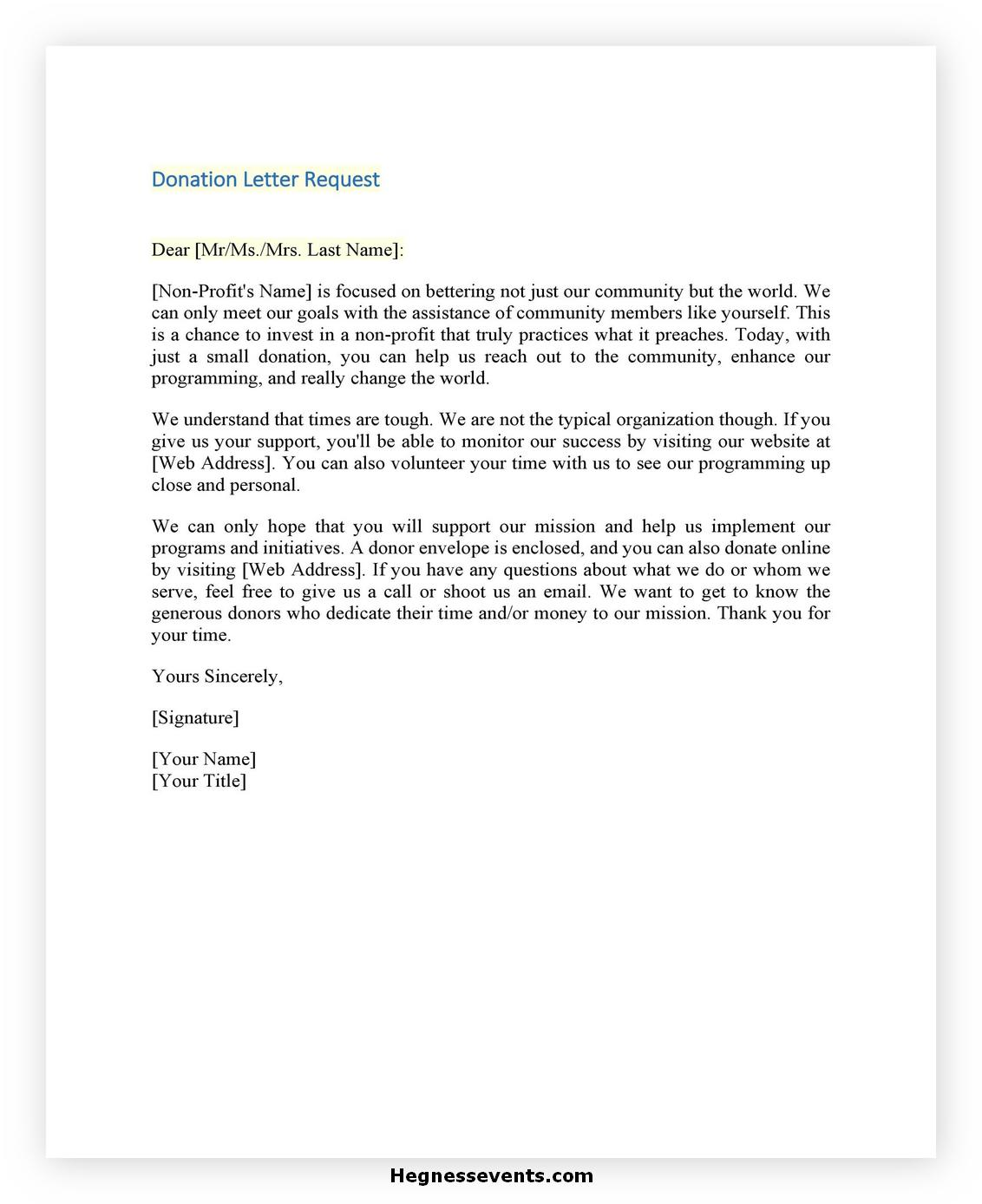 Donation Letter Template 40