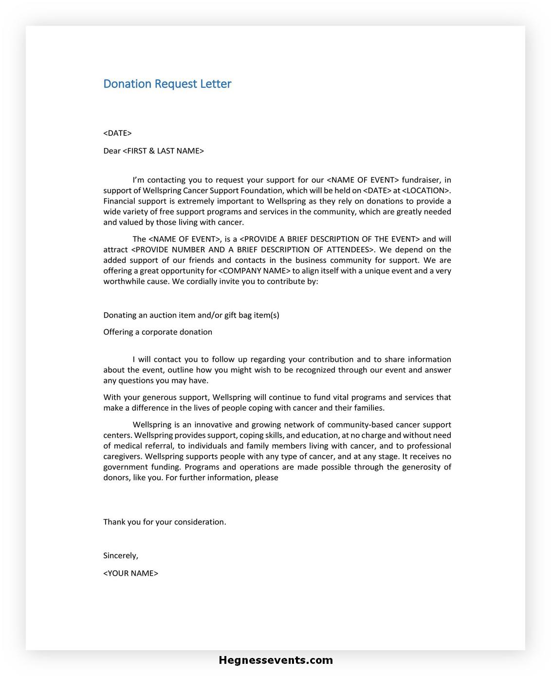 Donation Letter Template 41