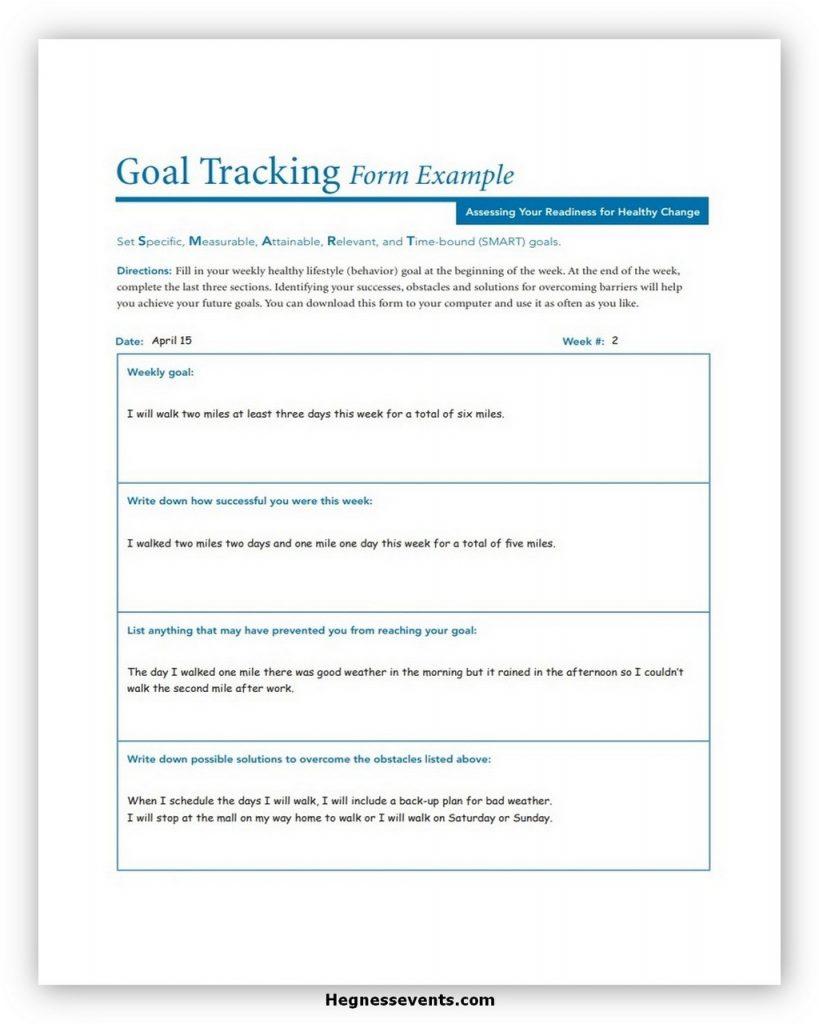 Goal Tracker Template 01