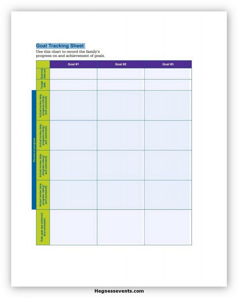 Goal Tracker Template Excel