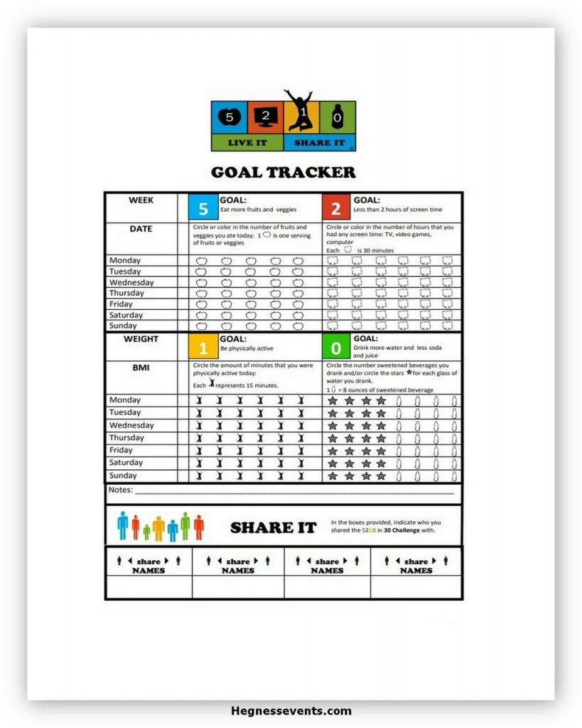 Goal tracker template free
