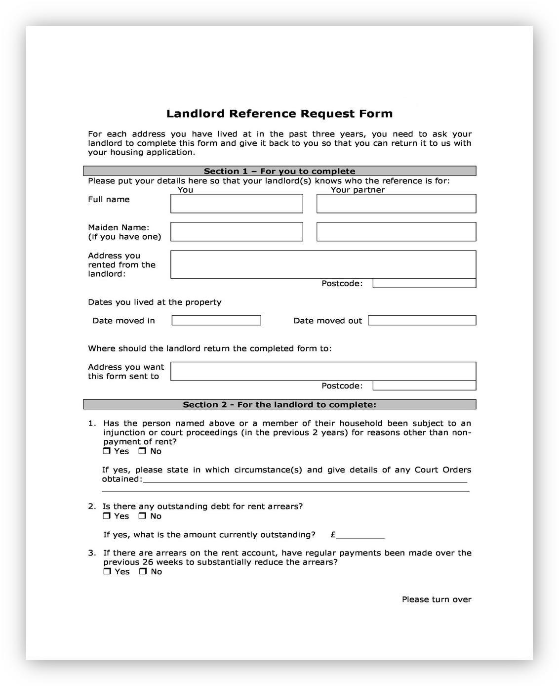 Landlord Reference Letter 03