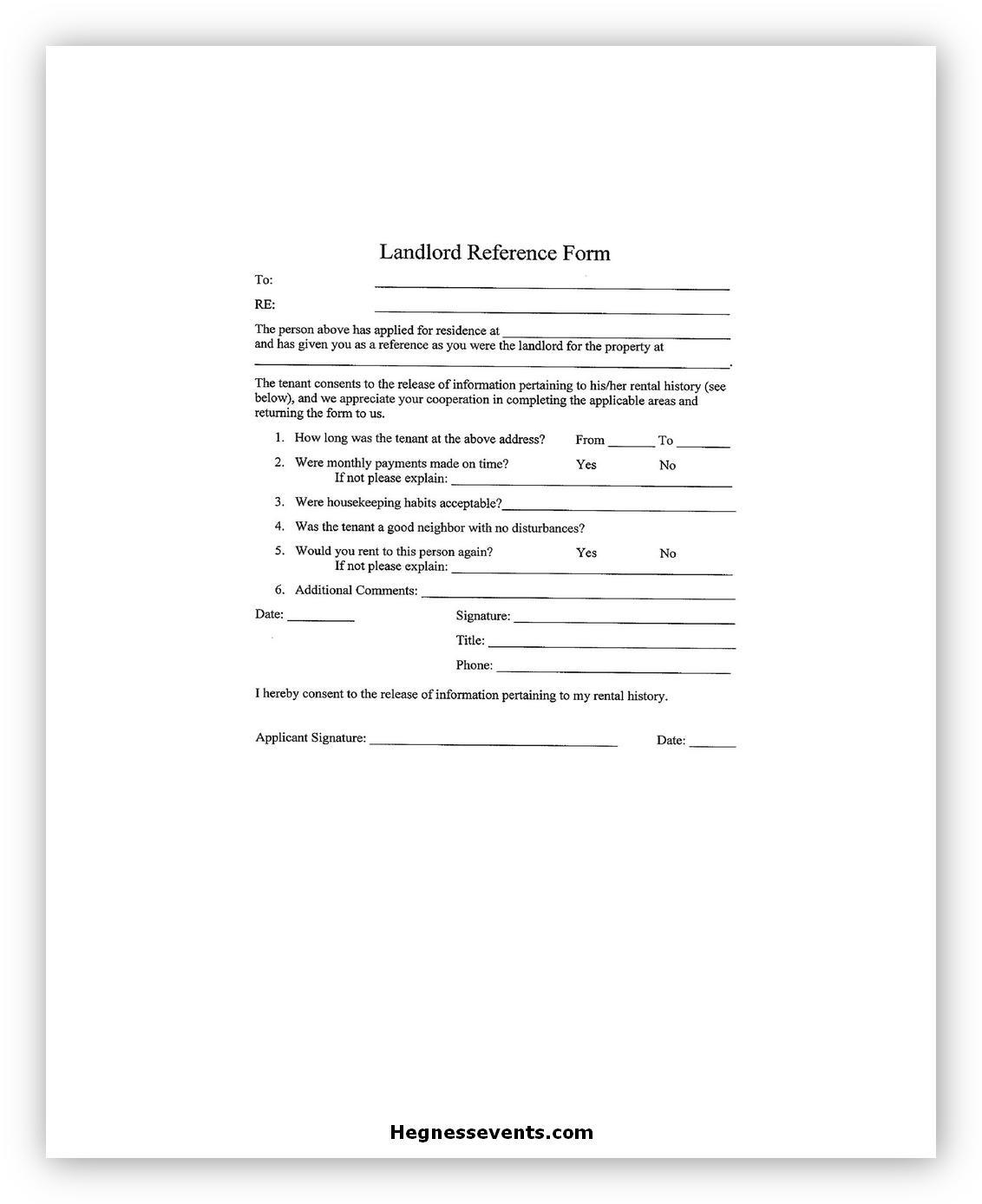Landlord Reference Letter 06