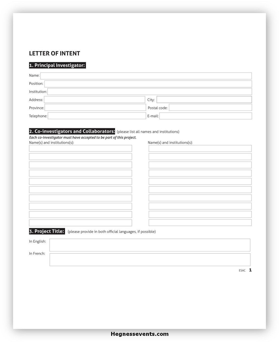 Letter of Intent Template 02