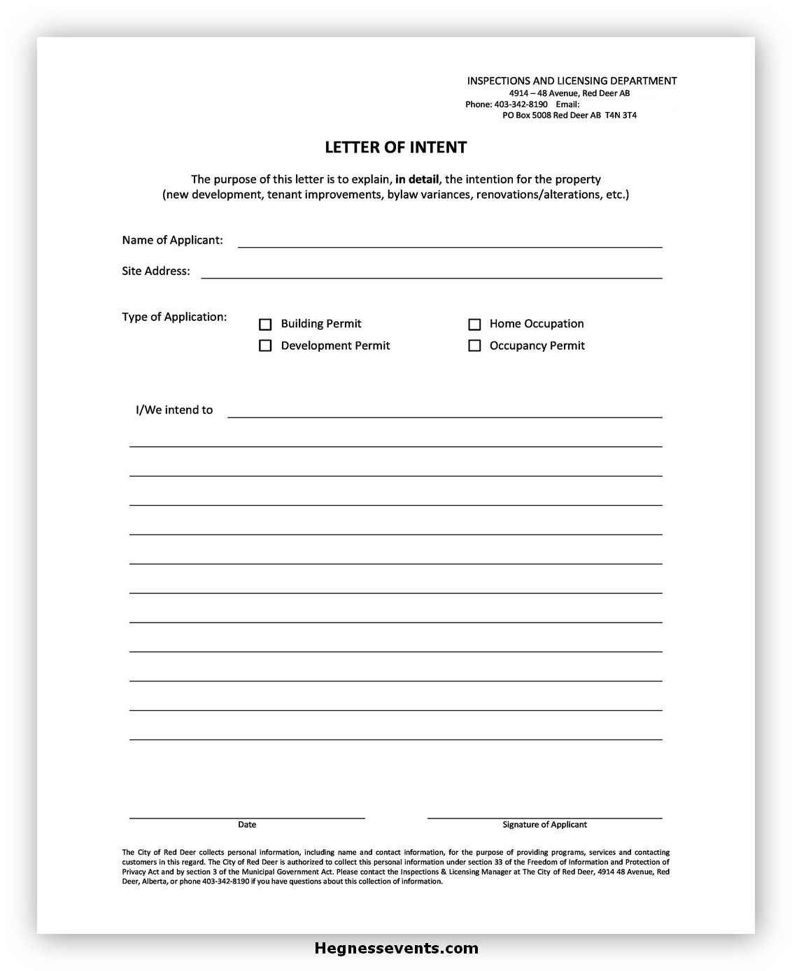 Letter of Intent Template 07