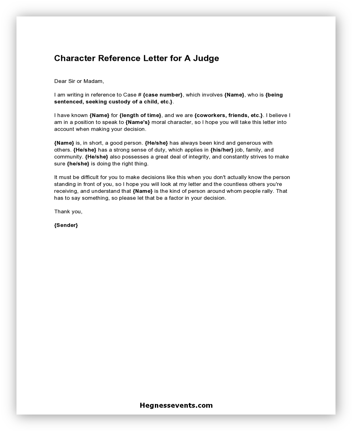 Letter of Reference Character 01