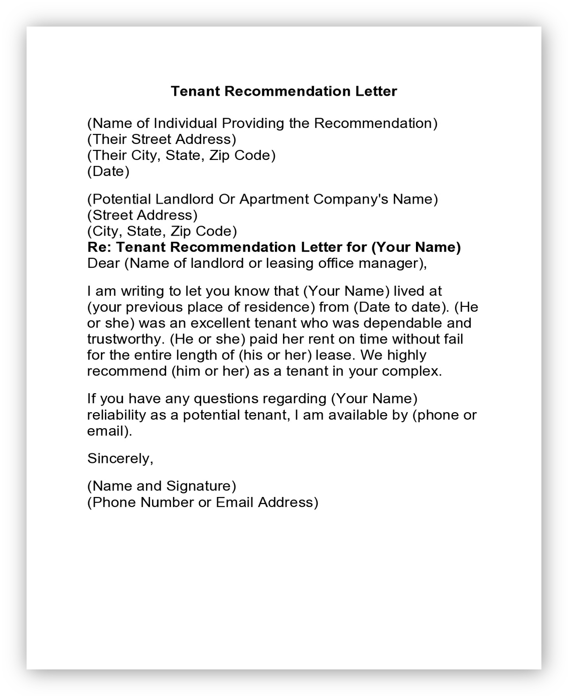 Letter of Reference Tenant01