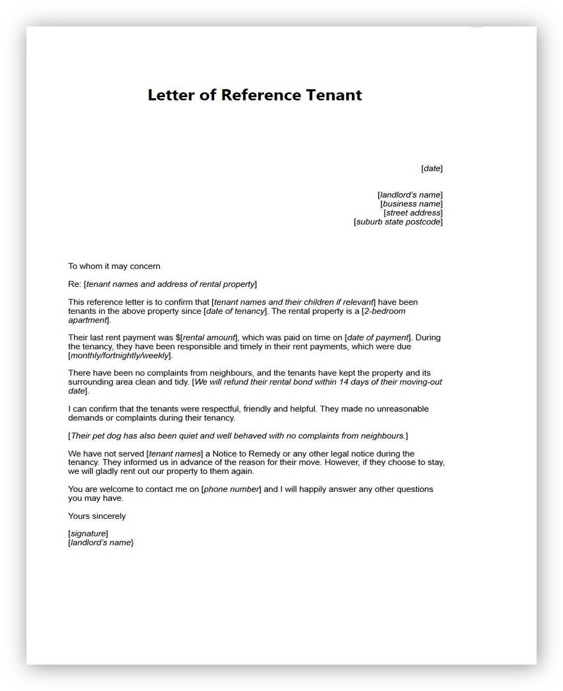 Letter of Reference Tenant06