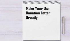 Make Your Own Donation Letter Greatly