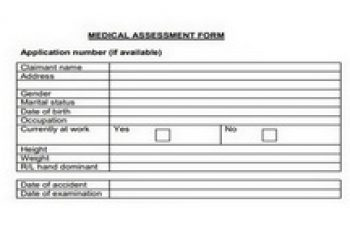 Medical Assessment Form Featured