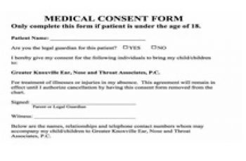 Medical Consent Form Featured