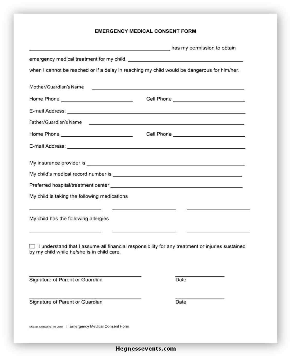 Medical Consent Form Printable 03