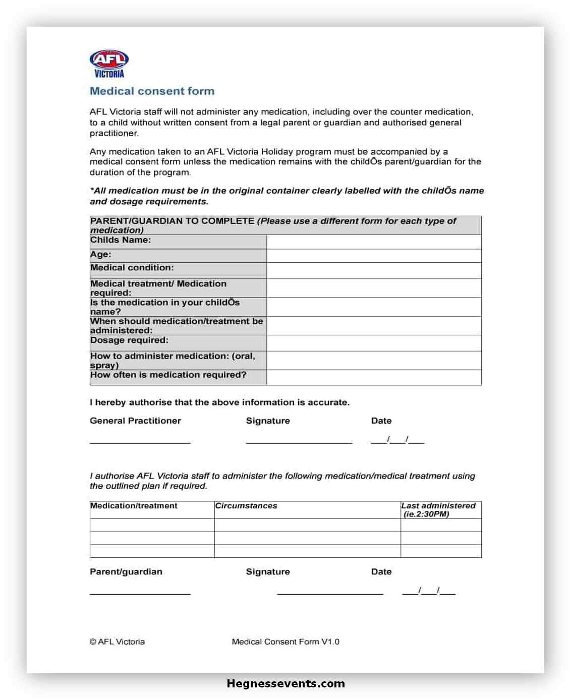 Medical Consent Form Printable 06