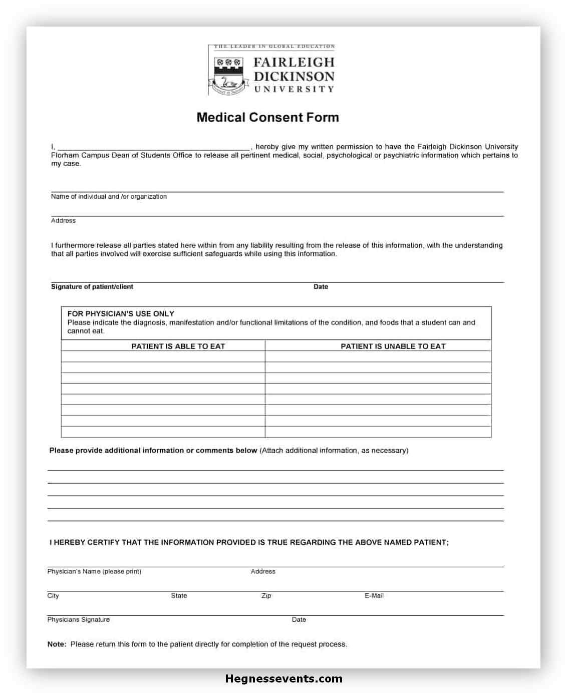 Medical Consent Form Printable 08