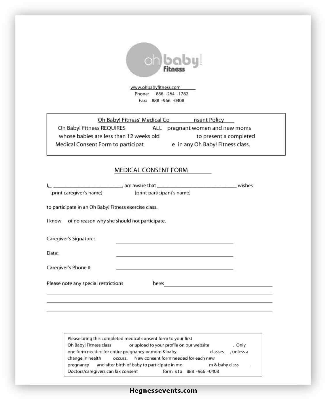 Medical Consent Form Printable 13