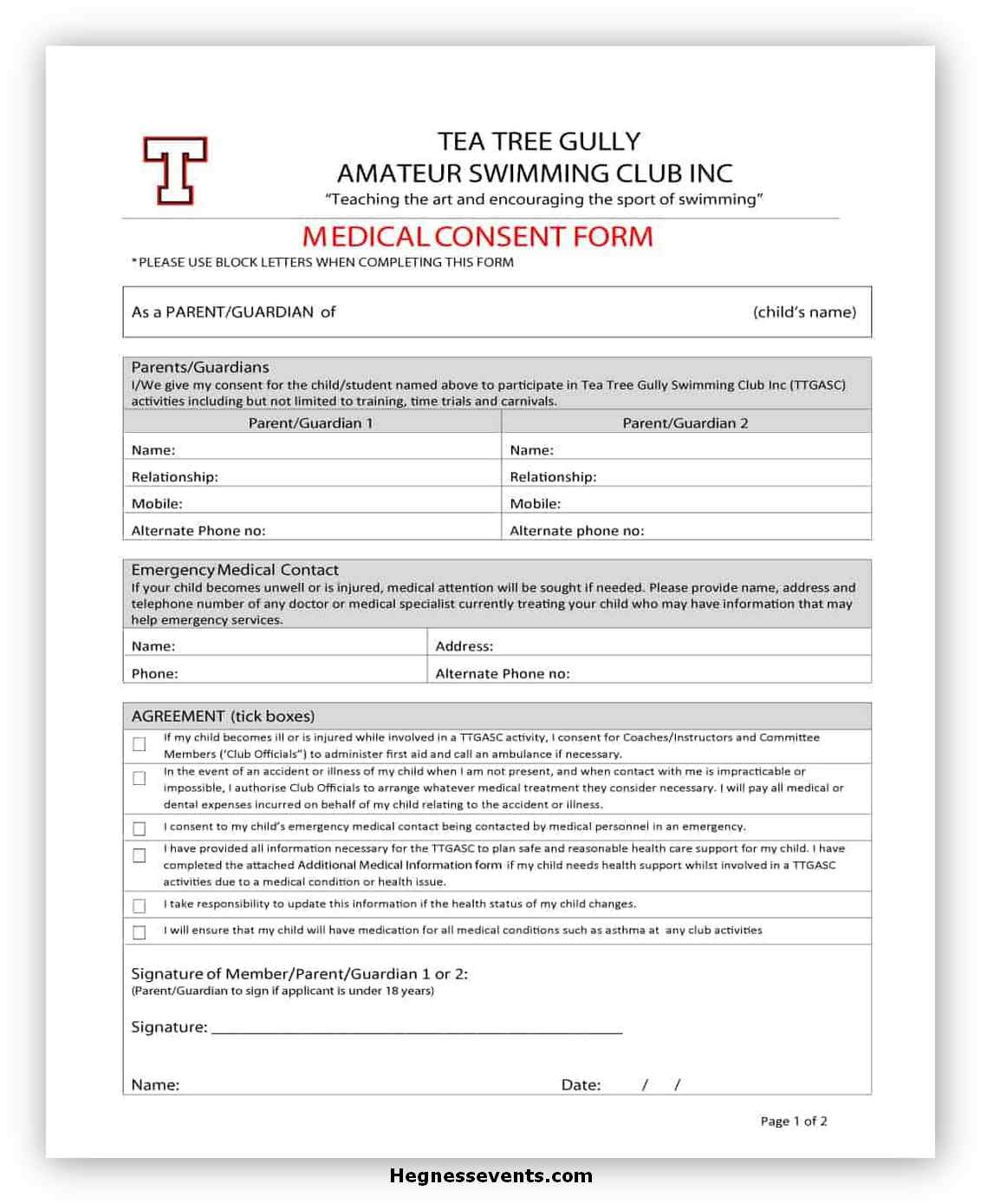 Medical Consent Form Printable 14