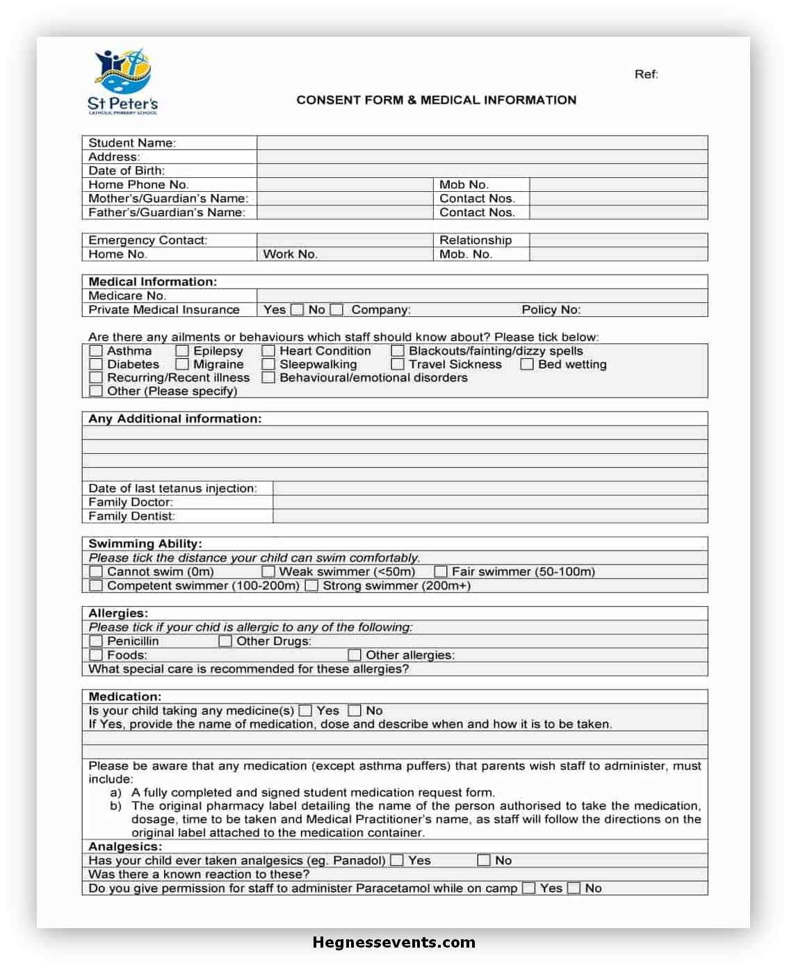 Medical Consent Form Printable 15