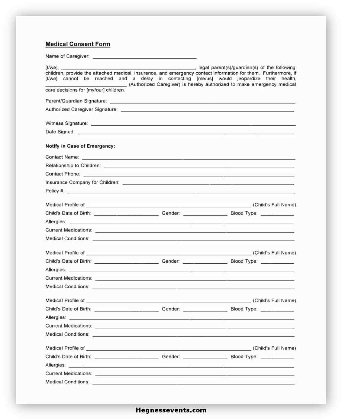 Medical Consent Form Template 01