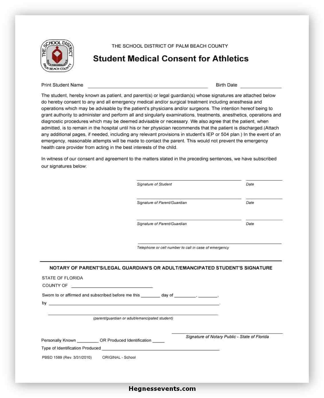 Medical Consent Form Template 02