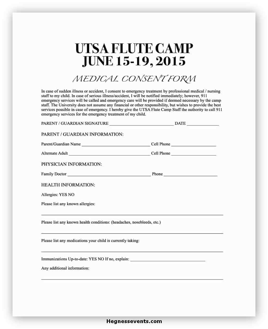 Medical Consent Form Template 05