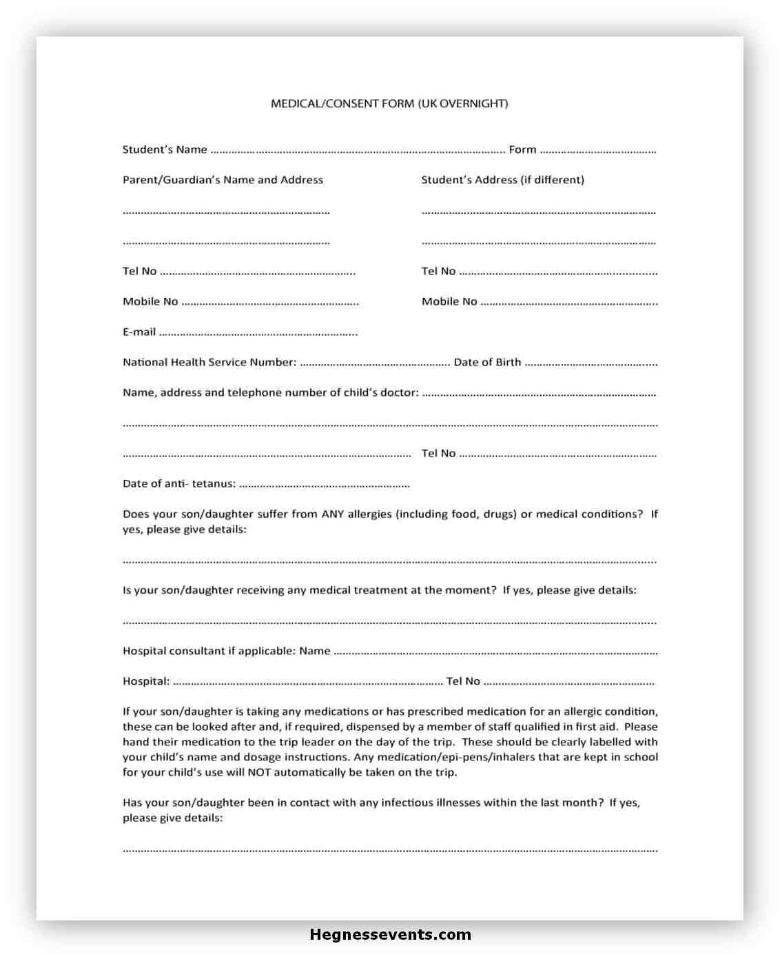 Medical Consent Form Template 07