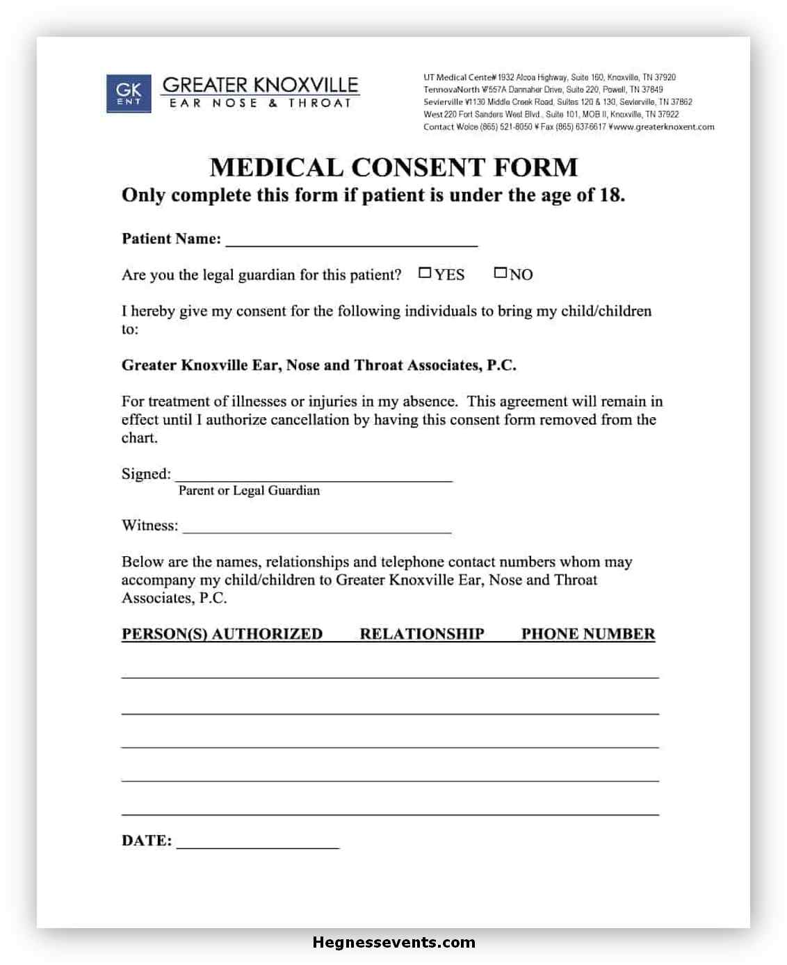 Medical Consent Form Template 09