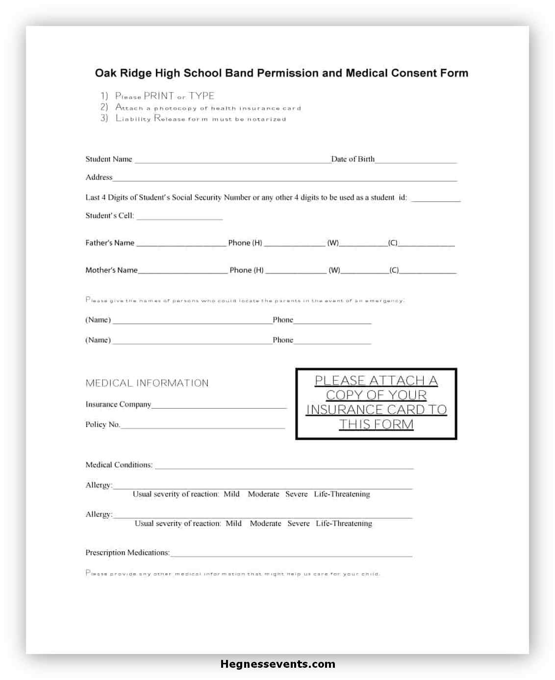 Medical Consent Form Template 11